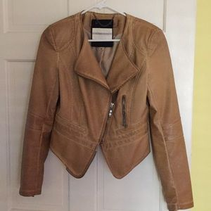 Raison d'etre faux leather jacket Size M